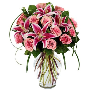 Sophisticated Rose & Stargazer Bouquet (BF416-11KM)